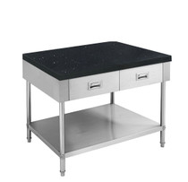 SWBD-6-0900-S S/S Kitchen Tidy Cabinet with Drawers & Stone Top - 600mm Deep