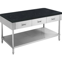 SWBD-6-1500-S 1500mm Width S/S Kitchen Tidy Cabinet with Drawers & Stone Top - 600mm Deep