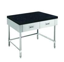 SWBD-7-0900-LS 900mm Width S/S Kitchen Tidy Cabinet with Drawers & Stone Top U Shape Brace - 700mm Deep
