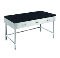SWBD-7-1500-LS S/S 1500mm Width Kitchen Tidy Cabinet with Drawers & Stone Top & U Shape Brace - 700mm Deep