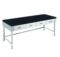 SWBD-7-1800-LS 1800mm Width S/S Kitchen Tidy Cabinet with Drawers & Stone Top & U Shape Brace - 700mm Deep