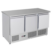 GNS1300B Three Door Compact Workbench Fridge 400Lt 1368mm Width