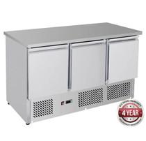 GNS1300B Three Door Compact Workbench Fridge 400Lt 1368mm Width