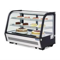 CD230-A Polar G-Series Countertop Food Display Fridge Black 160Ltr 886mm Width