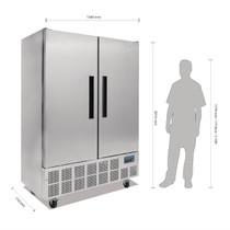 GD879-A Polar G-Series 2 Door Slimline Upright Fridge 960Ltr