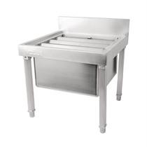 GL281 Vogue Stainless Steel Mop Sink 550mm H x 500 W x 500 D with Splashback