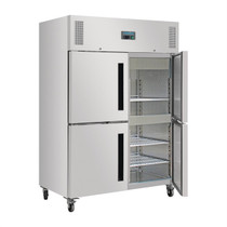 DL709-A Polar G-Series 1200Ltr 2 Stable Door Upright Fridge Stainless Steel