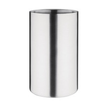 C386 Olympia Brushed Stainless Steel Wine & Champagne Cooler 200mm H x 120mm Ø