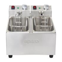 DB203-A Apuro Twin Tank Twin Basket Countertop Fryer 2x 3Ltr