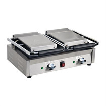 DY994-A Apuro Bistro Double Ribbed Contact Grill 550mm W x 210 H x 395 D