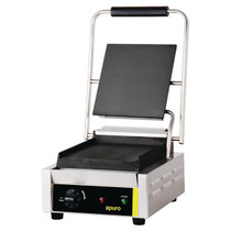 GH576-A Apuro Bistro Single Contact Grill Smooth Plates