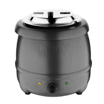 G107-A Apuro Graphite Grey Soup Kettle - Holds up to 10 Litres