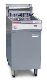 AF812R Austheat Freestanding 29Ltr Single Pan Double Basket Electric Fryer with Rapid Recovery