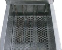 AF813 Austheat Freestanding 3 Phase Single Pan Three Basket Electric Deep Fryer 39Ltr