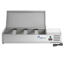 XVRX1200/380S FED-X Salad Bench with Stainless Steel Lid 1200mm Width