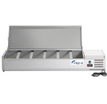 XVRX1500/380S FED-X Salad Bench with Stainless Steel Lid 1500mm Width