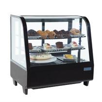CC611-A Polar C-Series Countertop Food Display Fridge 100 Ltr Black