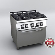 C-G741H Fagor 4 Burner Gas Range with Gas Oven