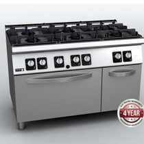 C-G761H Fagor 6 Burner Gas Range with Gas Oven