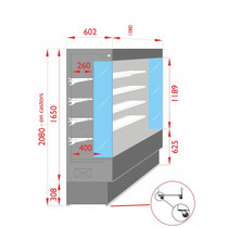 TDVC60-CA-100 Open Chiller with 4 Shelves 1080 mm Width