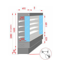 TDVC80-CA-100 Open Chiller with 4 Shelves 1080mm Width