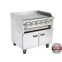 GGS-36LPG Gas Griddle and Gas Toaster with Cabinet