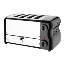 DR068-A Rowlett Esprit 4 Slot Toaster Jet Black