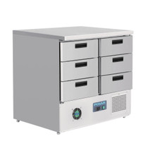 FA440-A Polar G-Series Refrigerated Counter with 6 Drawers 240Ltr