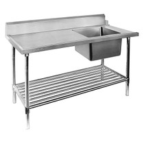 SSBD7-1200R/A Right Inlet Single Sink Dishwasher Bench 1200mm Width