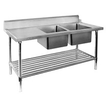 DSBD7-1800R/A Right Inlet Double Sink Dishwasher Bench 1800mm Width