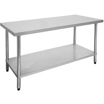 2100-7-WB Economic 304 Grade Stainless Steel Table 2100mm W  x 700mm D x 900mm H