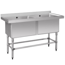 1410-6-DSB Stainless Steel Double Deep Pot Sink 1410mm W x 600 D x 900 H