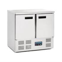 Polar 2 Door Counter Fridge 240Ltr Stainless Steel U636-A