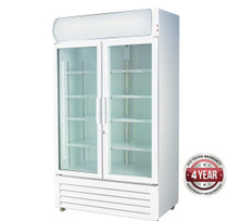 LG-1000GE Large Two Glass Door Colourbond Upright Drink Fridge 1000Lt  1110mm W