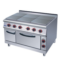 ZH-TT-6C ELECTMAX  - 6 Hotplates with Oven 1200mm W x 900 D x 850 H