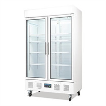 CD984-A Polar G-Series Double Door Upright Display Cabinet 944Ltr White