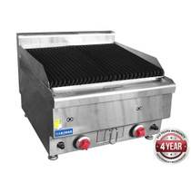 JUS-TRH60 GASMAX Benchtop 2 Burner Chargrill 600mm Width