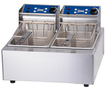 1001002 Birko Double 5L Fryer 2x10amp 550mm W x 435 D x 350 H
