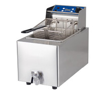 1001003 Birko Single 8 L Fryer W/Tap 15 Amp 282.5mm W x 500 D x 400 H