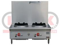 LKK-2BSRL 2 Burner Waterless Gas Stockpot - Duckbill Burner