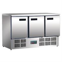 Polar 3 Door Counter Fridge 368Ltr Stainless Steel