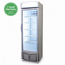 GM0440L Bromic LED Flat Glass Door 438L Upright Display Chiller with Lightbox
