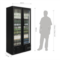 GJ449-A Polar G-Series Upright Back Bar Cooler with Hinged Door 490Ltr