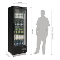 GJ447-A Polar G-Series Upright Back Bar Cooler with Hinged Door 307Ltr