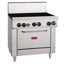 GH101-P Thor 6 Burner LPG Oven 1175mm H x 915 W x 845 D