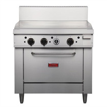 GE544-N Thor Natural Gas Freestanding Oven Range with Griddle Plate