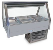 Roband Straight Glass Refrigerated Display Bar - Piped and Foamed only (no motor)