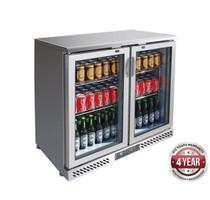 SC248SG Two Door Stainless Steel Bar Cooler 202Lt 900mm W x 535 D x 900 H
