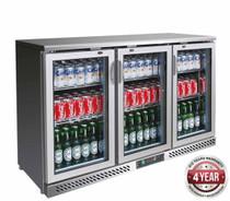 SC316SG 320Ltr Three Door Stainless Steel Bar Cooler 1350mm W x 535 D x 900 H