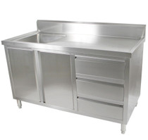 SC-7-1800L-H Kitchen Tidy Cabinet With Left Sink 700mm Deep 1800mm W